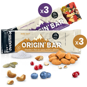 OVERSTIM.s Origin Riegel Box 6x40g Mixed Flavors